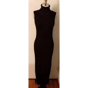 Knit Turtleneck Dress with Cardigan Set
